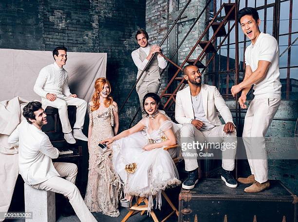 The cast of 'Shadow Hunters' Isaiah Mustafa Harry Shum Jr Katherine McNamara Dominic Sherwood Alberto Rosende Matthew Daddario and Emeraude Toubia...