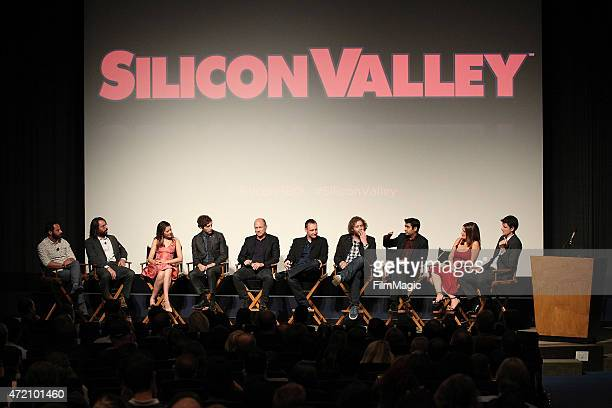 The cast of Silicon Valley attends the 'Silicon Valley' screening and panel at The Writer's Guild at Writer's Guild Theater on May 3 2015 in Los...
