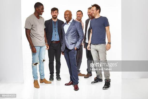 The cast of 'Snowfall' John Singleton, Damson Idris, Jonathan Avigdori are photographed for Entertainment Weekly Magazine on June 9, 2017 in Austin,...