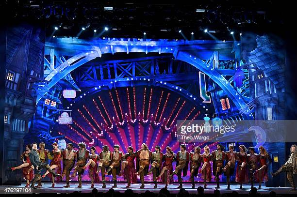 The cast of Something Rotten performs onstage at the 2015 Tony Awards at Radio City Music Hall on June 7 2015 in New York City