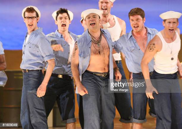The cast of South Pacific performs on stage during the 62nd Annual Tony Awards at Radio City Music Hall on June 15 2008 in New York City