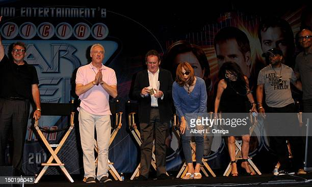 The cast of Star Trek The Next Generation participates at the 11th Annual Official Star Trek Convention Day 3 on Saturday August 11 2012 in Las Vegas...