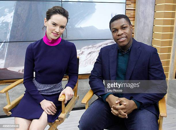 AMERICA The cast of 'Star Wars The Force Awakens' are guests on 'Good Morning America' 12/2/15 airing on the ABC Television Network