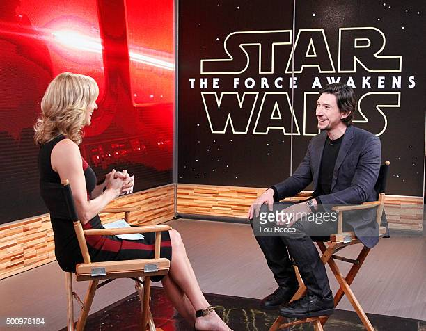 AMERICA The cast of Star Wars The Force Awakens are guests on Good Morning America 12/9/15 airing on the Walt Disney Television via Getty Images...
