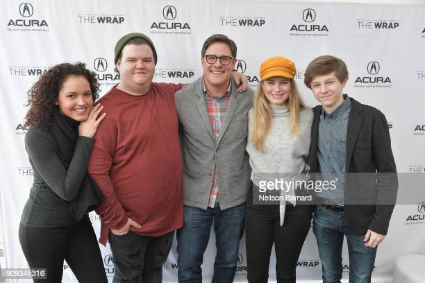 The cast of 'Summer of 84' attends the Acura Studio at Sundance Film Festival 2018 on January 23 2018 in Park City Utah