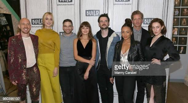 The cast of Sweetbitter Daniyar Caitlin Fitzgerald Evan Jonigkeit Ella Purnell Tom Sturridge Jasmine Matthews Paul Sparks and Eden Epstein visits...