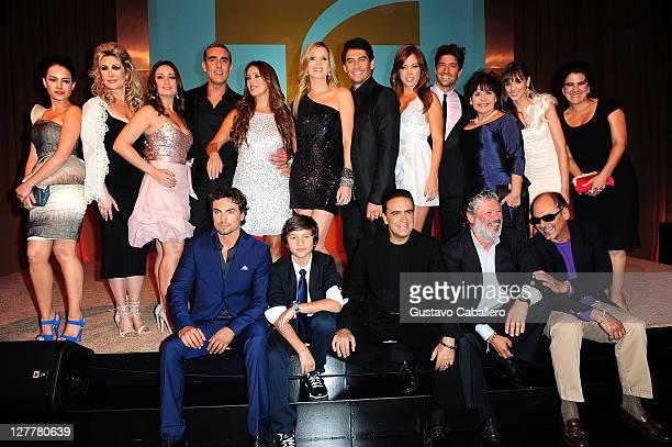 The cast of Telemundo La Casa de al Lado VIP Premiere at Mandarin Oriental on May 31, 2011 in Miami, Florida.