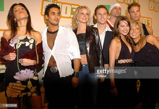 The cast of Temptation Island 3 during VH1 Big In '03 Arrivals at Universal Amphitheater in Universal City California United States