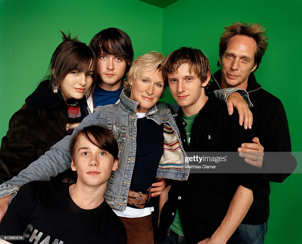 The cast of the 2005 film The Chumscrubber are, L-R, Camilla Belle, Justin Chatwin, Glenn Close, Jamie Bell, William Fichtner, and Lou Taylor Pucci (bottom).