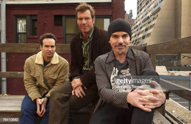Jason Patric Dennis Quaid Billy Bob Thornton are photographed for the Los Angeles Times on October 29 2003 in New York City
