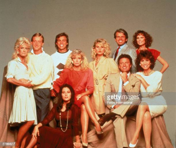 The cast of the American prime time television soap opera 'Knots Landing' pose for a publicity still circa 1980