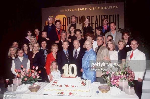 The cast of the B B during 10 Aniversary of 'Bold and the Beautiful' Party at Los Angeles in Los Angeles CA United States