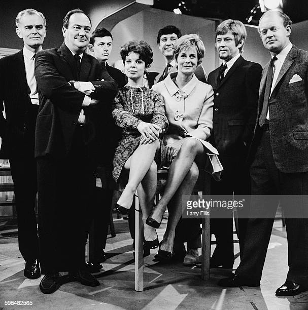 The cast of the BBC television police drama 'Softly Softly' UK 3rd October 1967 From left to right John Barron Stratford Johns David Quilter Chrys...