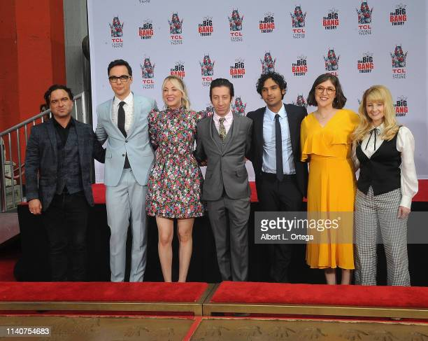 The Cast Of The Big Bang Theory Places Their Handprints In The Cement At The TCL Chinese Theatre IMAX Forecourt held on May 1 2019 in Hollywood...