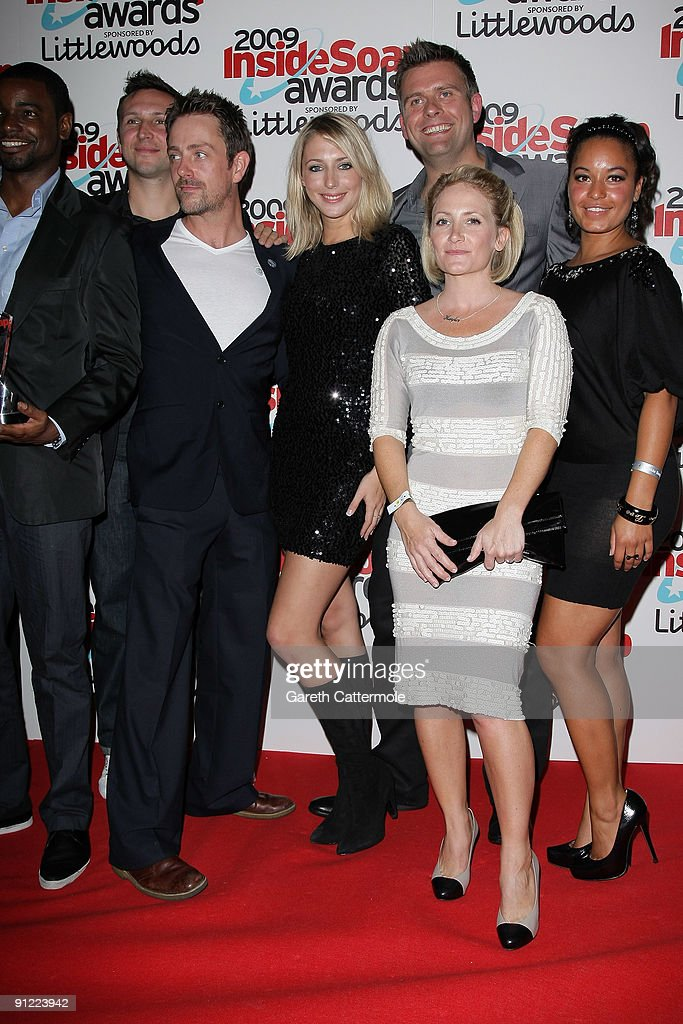 The cast of The Bill arrive at The Inside Soap Awards 2009
