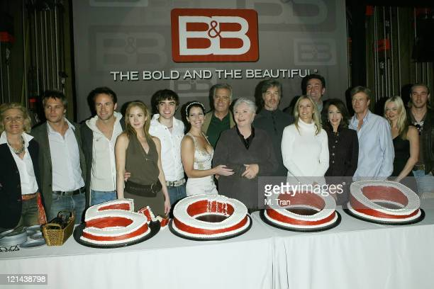 """The cast of """"The Bold and The Beautiful"""" during """"The Bold and the Beautiful"""" 5,000th Episode Celebration - January 23, 2007 at Stage 31 - CBS..."""