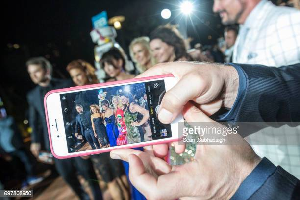 The cast of The Bold and the Beautiful pose for photos at the 'The Bold and The Beautiful' 30th Anniversary Party during the 57th Monte Carlo TV...