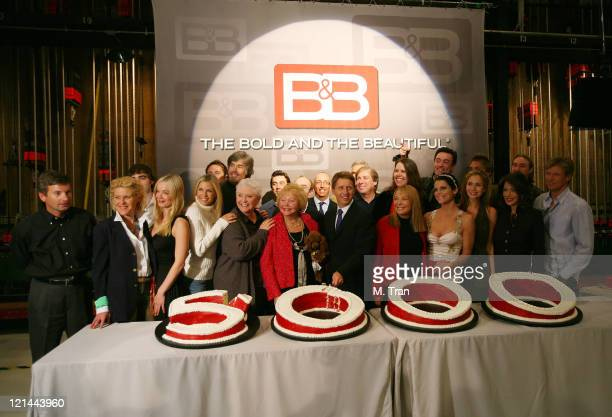 The cast of The Bold and The Beautiful with Lee Phillip Bell and Bradley Bell