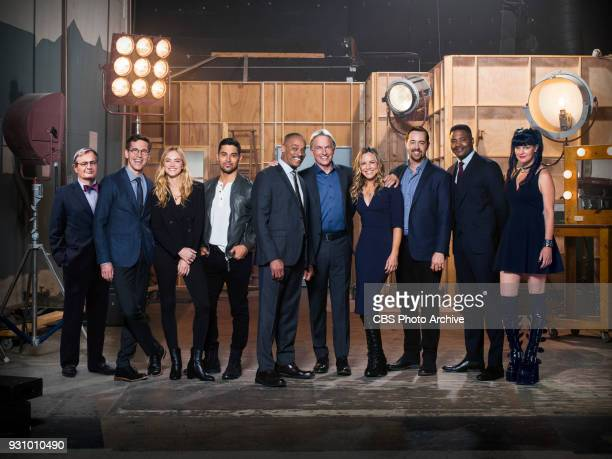 The cast of the CBS series NCIS, scheduled to air on the CBS Television Network. Pictured: David McCallum, Brian Dietzen, Emily Wickersham, Wilmer...