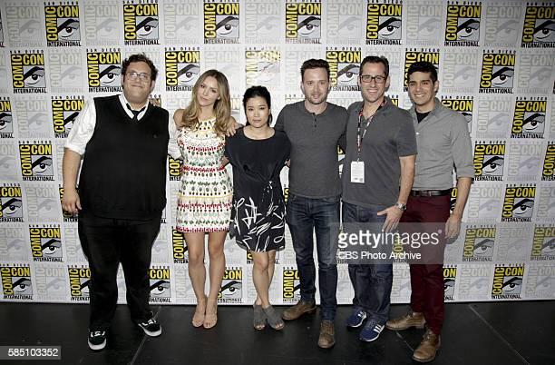 The cast of the CBS series SCORPION Ari Stidham Katharine McPhee Jadyn Wong Eddie Kaye Thomas Nicholas Wootton Executive Producer and panel...