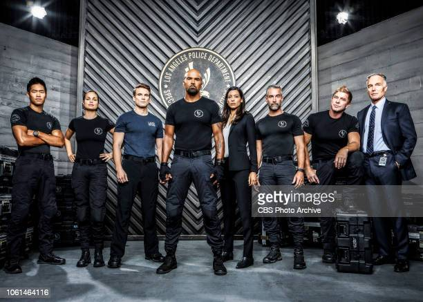 The cast of the CBS series SWAT scheduled to air on the CBS Television Network Pictured David Lim as Victor Tan Lina Esco as Christina Chris Alonso...