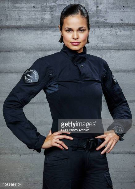 The cast of the CBS series SWAT scheduled to air on the CBS Television Network Pictured Lina Esco as Christina Chris Alonso