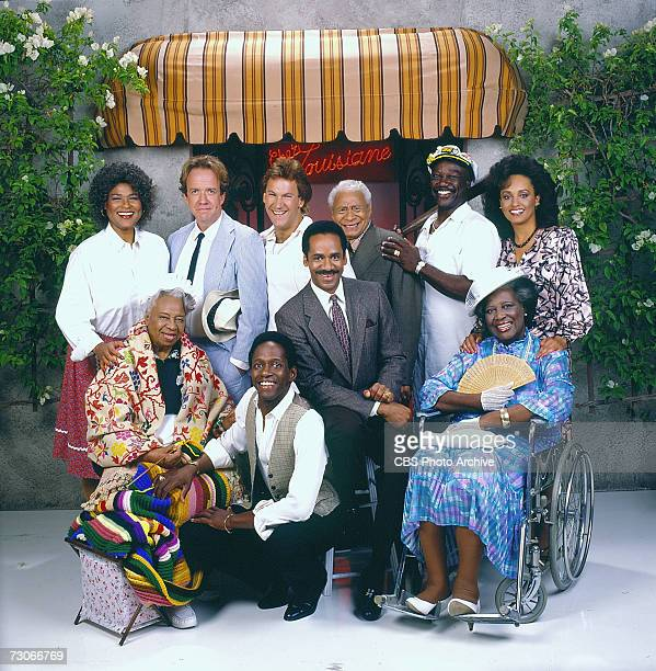 The cast of the CBS television situation comedy 'Frank's Place' Francesca P Roberts Robert Harper Don Yesso Charles Lampkin Tony Burton and Daphne...