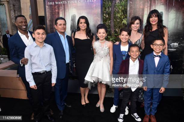 The cast of The Curse Of La LLorona attends the premiere of Warner Bros' The Curse Of La Llorona at the Egyptian Theatre on April 15 2019 in...