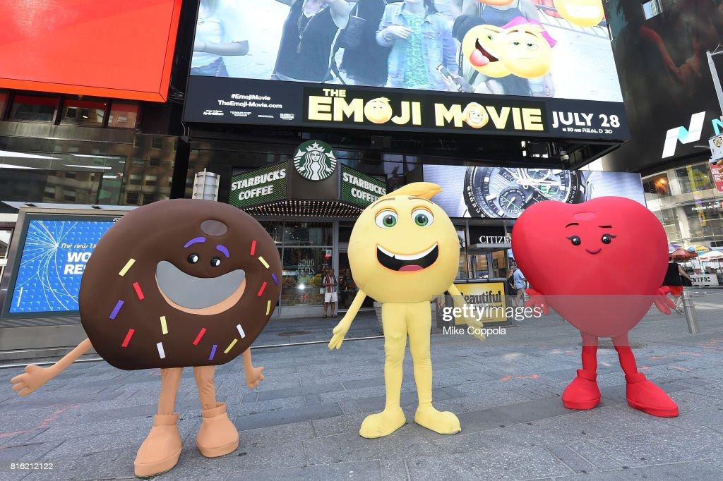 The Cast Of The Emoji Movie Celebrates World Emoji Day On Good Morning America on July 17, 2017 in New York City.