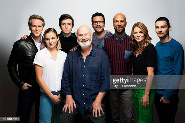 The cast of the film Being Charlie Cary Elwes Morgan Saylor Nick Robinson director Rob Reiner Ricardo Chavira Common Susan Misner and Devon Bostick...