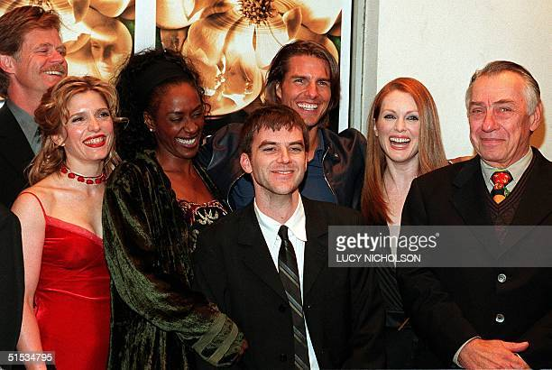 The cast of the film Magnolia pose at the film's premiere in Los Angeles 08 December 1999 actor William H Macy actress Melora Walters actress April...