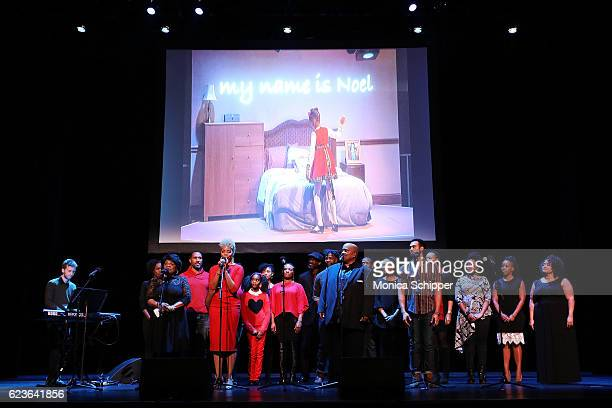 The cast of 'The First Noel' perform on stage at 'The First Noel' Sneak Peek at The Apollo Theater on November 16 2016 in New York City