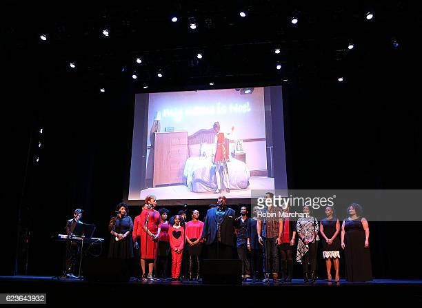 The cast of 'The First Noel' Sneak Peek at The Apollo Theater on November 16 2016 in New York City