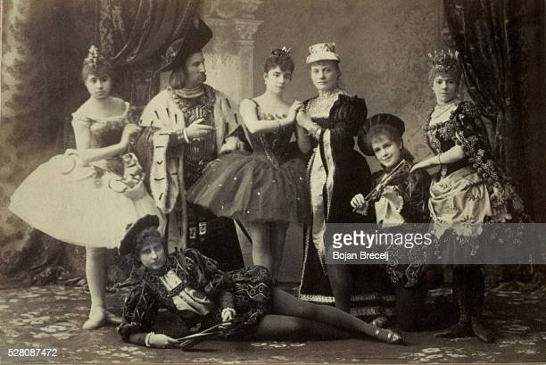 The cast of the first performance of the ballet Sleeping Beauty by the Russian composer Tchaikovsky.