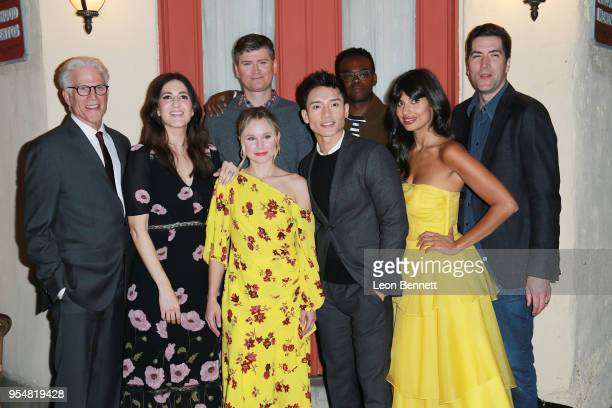 The cast of The Good Place attends NBC's The Good Place FYC Screening And QA at Universal Studios Backlot on May 4 2018 in Universal City California