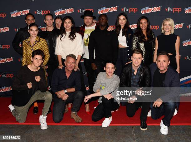 The Cast of the Gotham at the Gotham Panel during the New York Comic Con 2017 on October 8 2017 in New York City