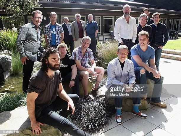 "The cast of the Hobbit movie poses during a press conference for ""The Hobbit: Part 1"" at the Park Road Post Production Centre on February 11, 2011 in..."