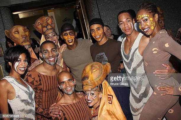 The cast of the Lion King attend the 62nd Annual Tony Awards on June 15 2008 at the Rainbow Room in New York