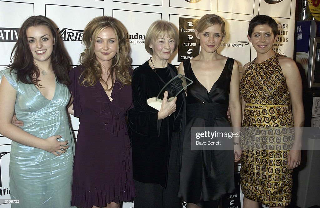 The cast of The Magdalene Sisters Anne Marie Duff, Dorothy Duffy, Geraldine McKewan, Nora Jane Noone and Eileen Walsh attend the 2003 British Independent Film Awards at Po Na Na on November 5, 2003 in London.