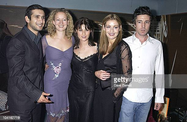 The Cast Of The Movie Jimi Mistry Lorraine Pilkingtonemma Catherwood louise Lombard And Aidan Gillen My Kingdom Movie Premiere Party The Tough...