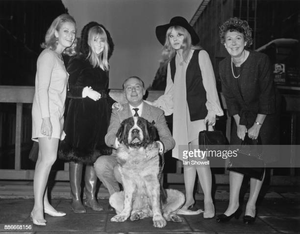 The cast of the new television series 'Father Dear Father' UK 30th October 1968 From left to right Sally Bazely Ann Holloway Patrick Cargill Natasha...