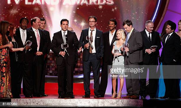 """The cast of """"The Office"""" accepts the Future Comedy Classic Award onstage during the 6th annual """"TV Land Awards"""" held at Barker Hangar on June 8, 2008..."""