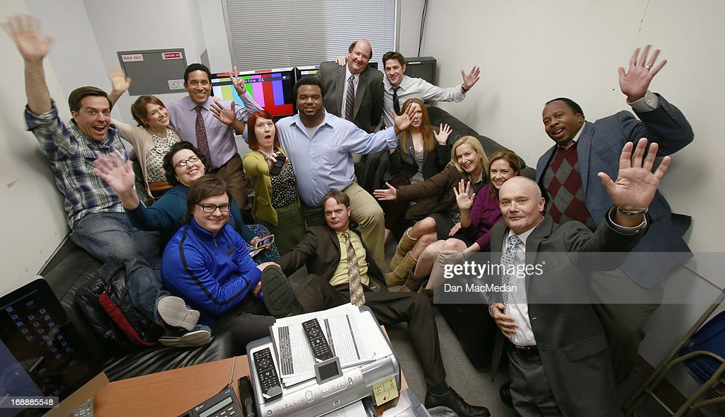On the set of The Office, USA Today, May 15, 2013 : News Photo
