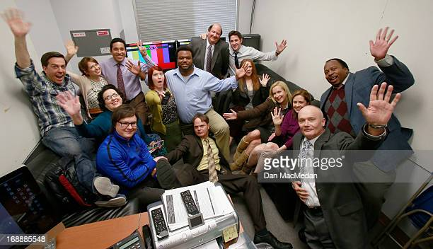 The cast of 'The Office' are photographed for USA Today on the set of 'The Office' on February 5 2013 in Van Nuys California