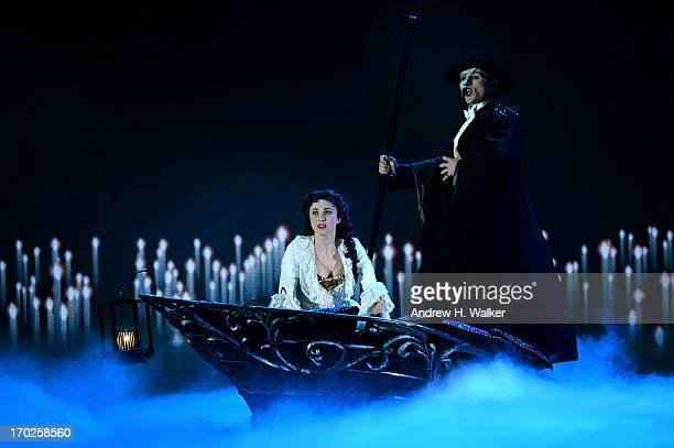 """The cast of """"The Phantom Of The Opera"""" performs onstage at The 67th Annual Tony Awards at Radio City Music Hall on June 9, 2013 in New York City."""