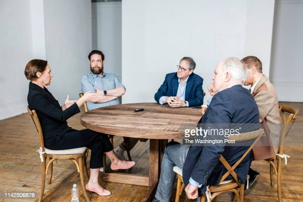 The cast of the play Hillary and Clinton John Lithgow Laurie Metcalf Peter Francis James and Zak Orth discuss the play with Post theater critic Peter...