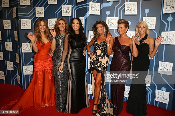 The cast of The Real Housewives of Melbourne arrive at the 12th ASTRA Awards at Carriageworks on March 20 2014 in Sydney Australia
