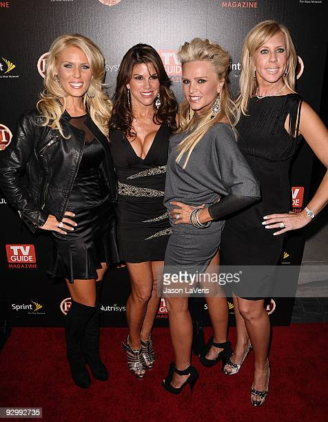 The cast of The Real Housewives of Orange County Gretchen Rossi Lynne Curtin Tamra Barney and Vicki Gunvalson attend TV Guide Magazine's Hot List...
