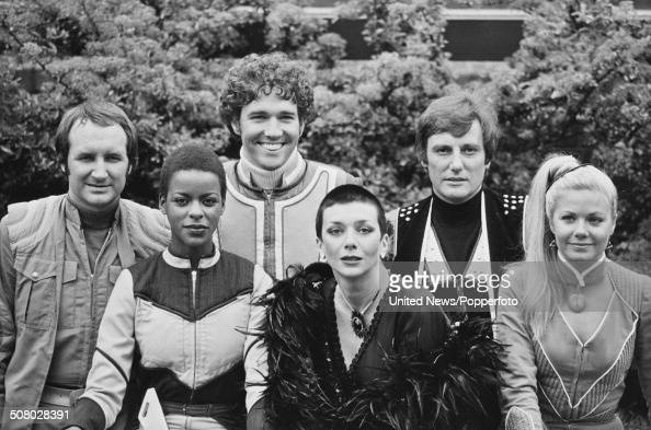 the cast of the science fiction television series blake 39 s 7 posed news photo getty images. Black Bedroom Furniture Sets. Home Design Ideas