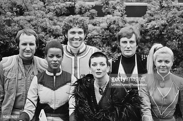 The cast of the science fiction television series Blake's 7 posed together during a press reception in London on 11th May 1981. Left to right:...